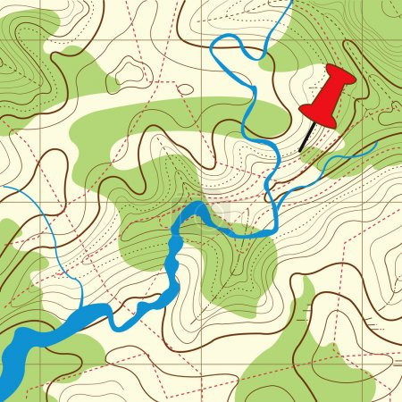 Topography map Background
