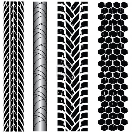 Dirty tire tracks