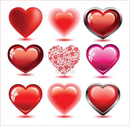 Illustration pour Ensemble de cœurs - image libre de droit