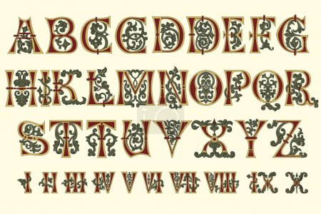 Alphabet Medieval and Roman numerals