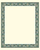 Arabesque border frame