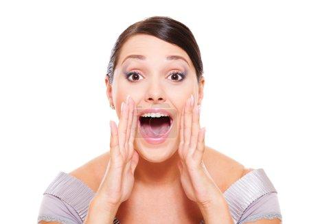 Woman shouting
