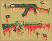 Grunge weapon stamp