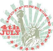 The vector image of color Independence Day stamp