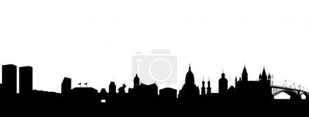 Photo pour Mayence Silhouette noir abstrait - image libre de droit