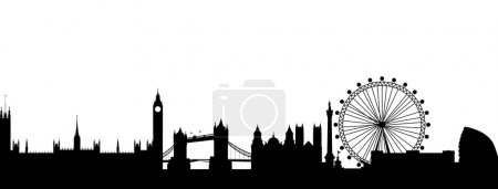 Photo pour London Silhouette noir abstrait - image libre de droit