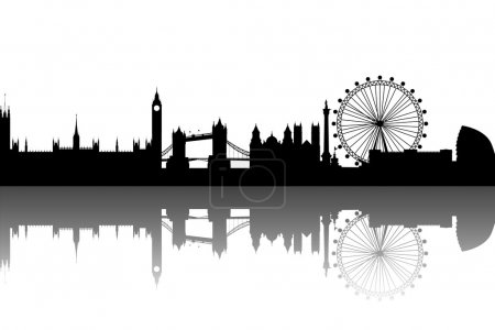 Photo pour London Silhouette noir abstrait - image libre de droit