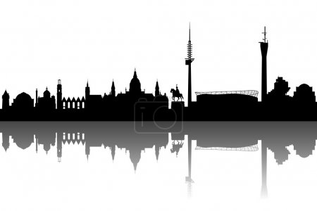 Hanover Silhouette black abstract