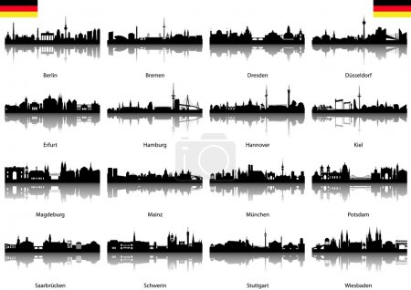 Vector Silhouettes of Germany