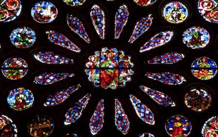 Photo pour Vitrail dans la cathédrale de Léon, Espagne - image libre de droit