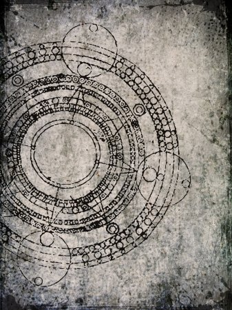 Old parchment with maya calendar