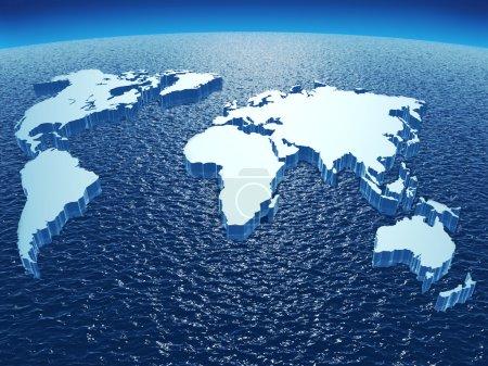 Photo pour Image 3d abstraite représentant les continents de la terre - image libre de droit