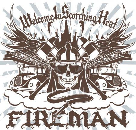 Illustration pour Symbole de pompier - image libre de droit