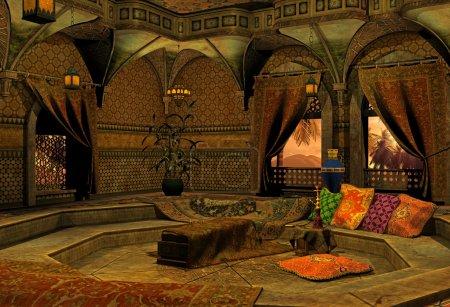 Photo pour Rendu 3D d'une pièce en arabe - image libre de droit
