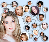 Social network media concept collage