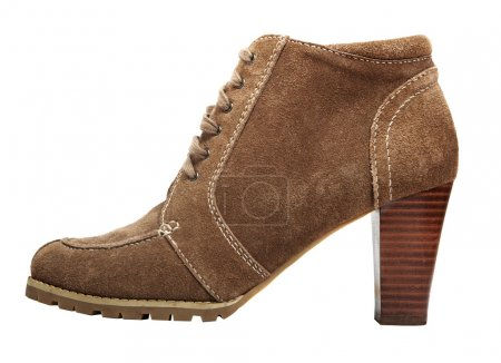 Round toe suede boot