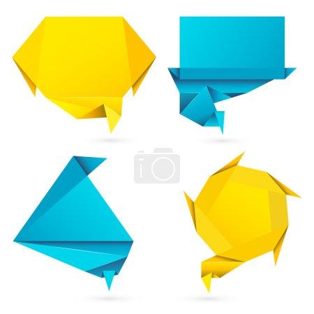 Origami Style Speech Bubble