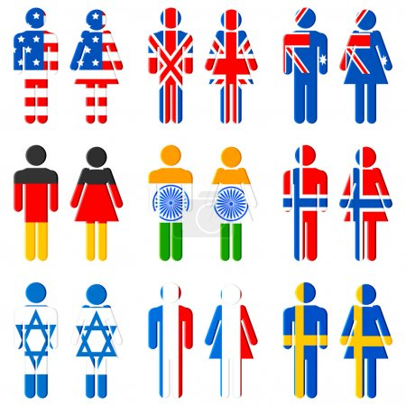 Human Icon of Different Nation