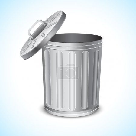 Illustration for Illustration of trash can on abstract background - Royalty Free Image