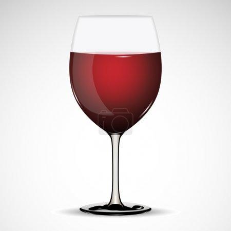 Illustration pour Illustration de verre plein de vin sur fond abstrait - image libre de droit