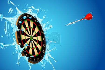 Splashing Dart Board