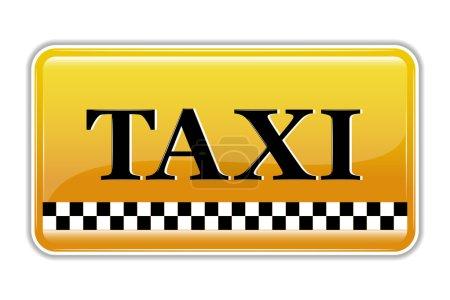 Illustration pour Illustration du symbole du taxi sur fond isolé - image libre de droit
