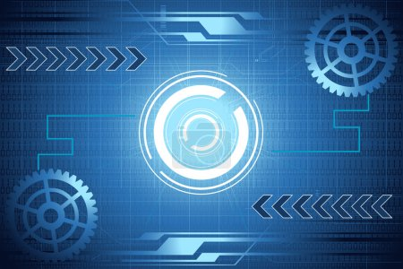 Illustration for Illustration of abstract mechanical background with cog wheel - Royalty Free Image
