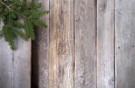 Photo for Twig over wooden background.With copy space - Royalty Free Image