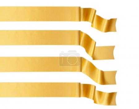 Photo pour Élégance ruban d'or collection de bannières - image libre de droit