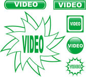 Button VIDEO glossy web icons set