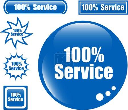 Illustration pour SERVICE 100 % Bouton Web ensemble de différentes icônes de formulaire - image libre de droit
