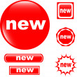 NEW button set of different form web glossy icon...