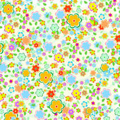 Beautiful pattern floral background with green leaves