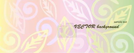 Pink floral background.