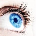 Beautiful abstract blue eye, extreme closeup...