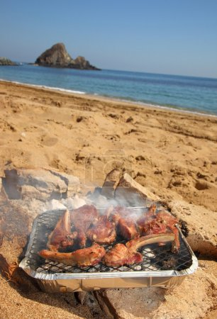 BBQ Ribs on the beach