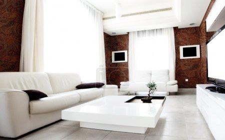 Photo pour Appartement de luxe avec design intérieur moderne et élégant - image libre de droit
