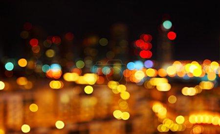 Foto de Fondo abstracto bokeh nocturno ciudad luces - Imagen libre de derechos