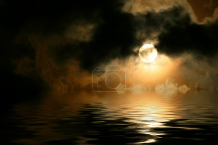 Photo for Full moon cloudscape - Royalty Free Image