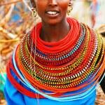 AFRICA, KENYA, SUMBURU, Portrait of Sumburu woman ...