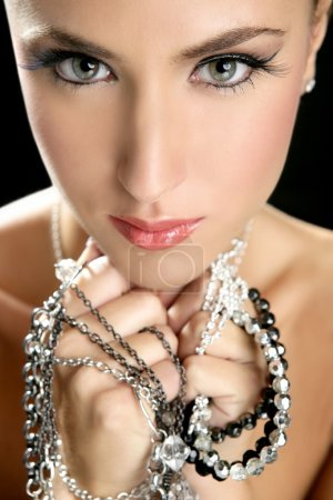 Photo for Attractive fashion elegant woman portrait with jewelry - Royalty Free Image