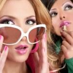 Fashion barbie doll style girls pink lipstip makeu...