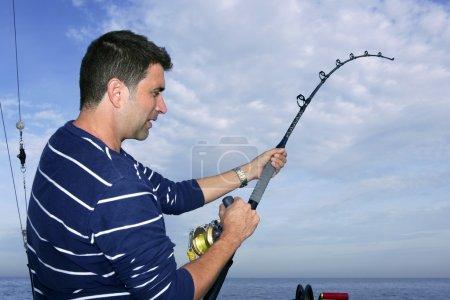 pescador pescador lucha carrete y varilla de pez