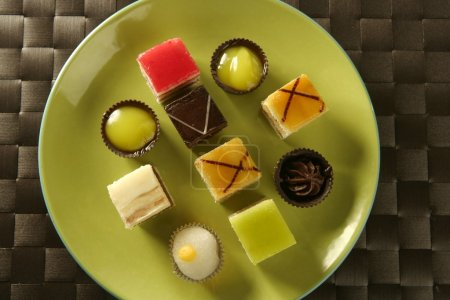 Pastries over green dish