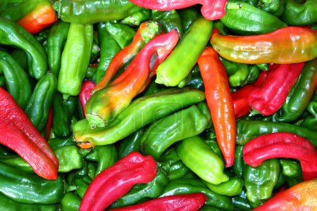 Green red pepper pattenr coloful vegetables