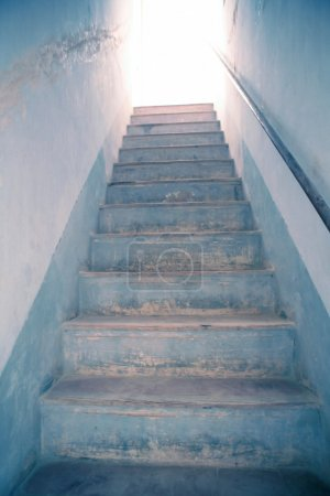 Photo for Stairway to light, metaphor to heaven, the white up shine - Royalty Free Image