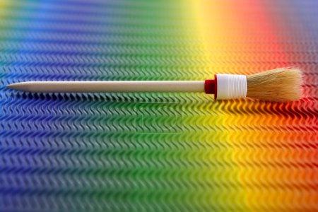 Brush over colorful rainboy background