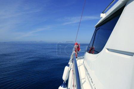 Motorboat yacht blue ocean sea vacation