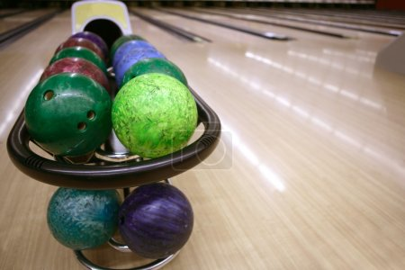 Bowling balls perspective in game center
