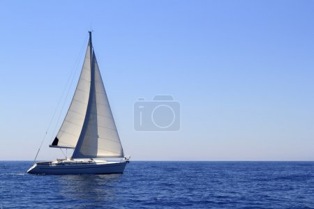 Beautiful sailboat sailing sails blue Mediterranean